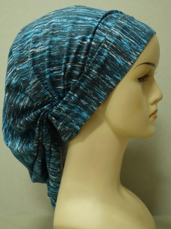 Niebiesko - popielata chusta