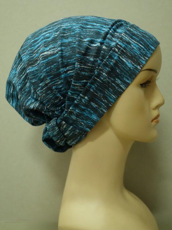 Niebiesko - popielata chust
