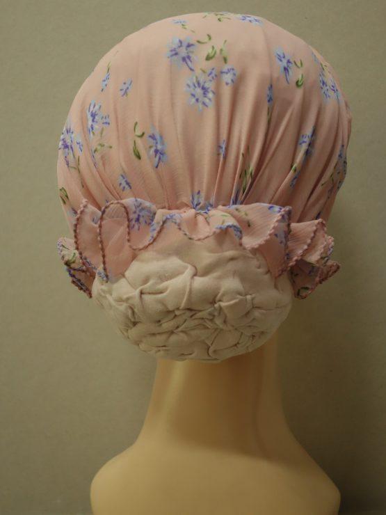 Różowy turban z żorżety