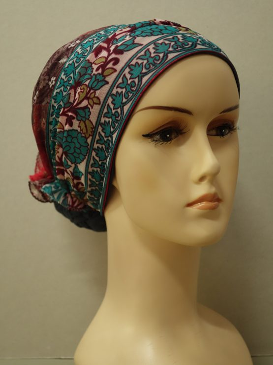 Grafitowy turban we wzory