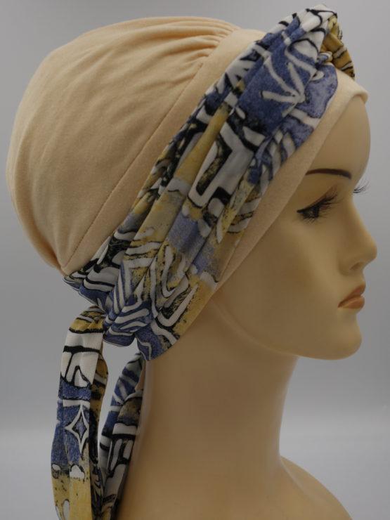 Waniliowa chusta modny wzór