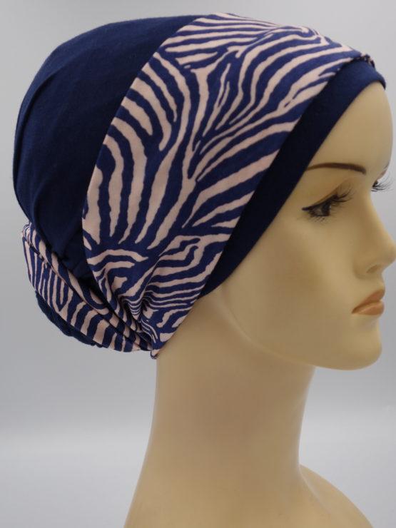 Granatowy turban