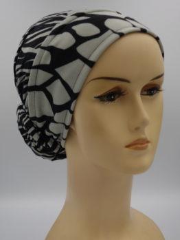 Popielato-beżowy turban