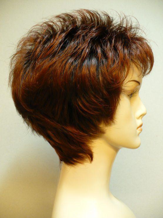 """Krótka peruka ruda na ciemniejszej podstawie """"jeżyk"""""""
