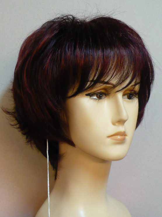 Krótka peruka oberżyna