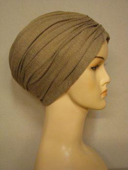 Cappucino czepek drapowany