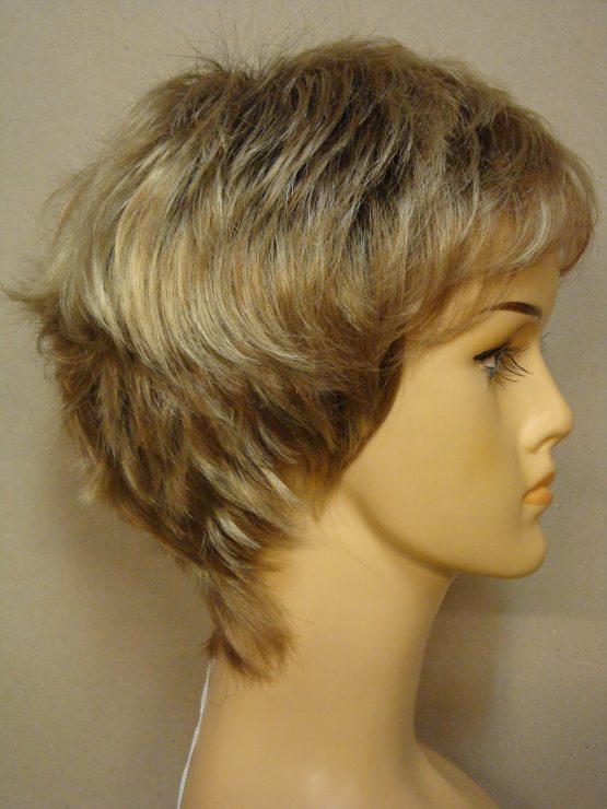 Krótka peruka ciepły blond