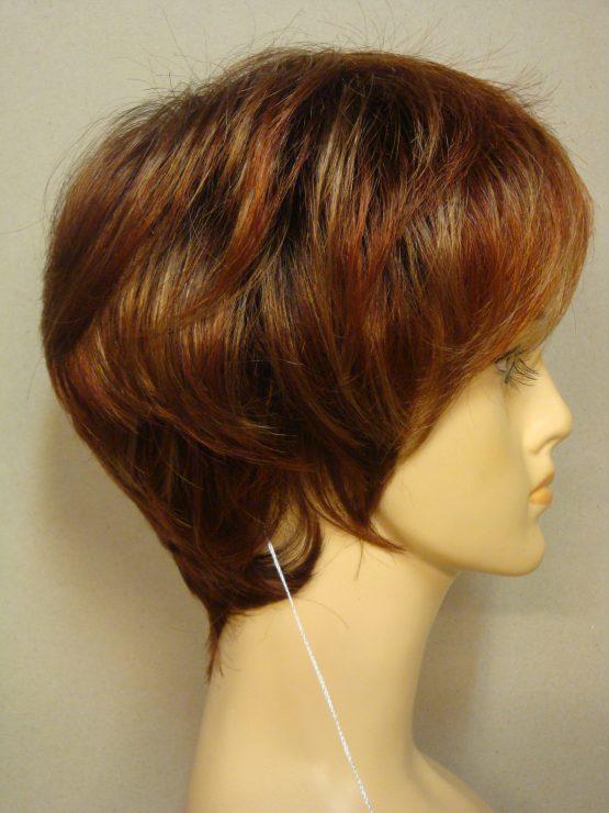 Krótka peruka różne odcienie rudości