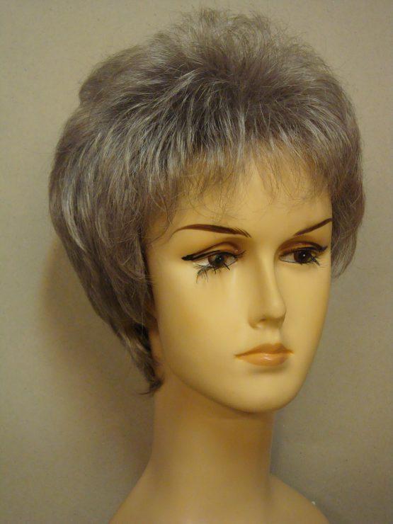 """Krótka peruka siwa """"jeżyk"""""""