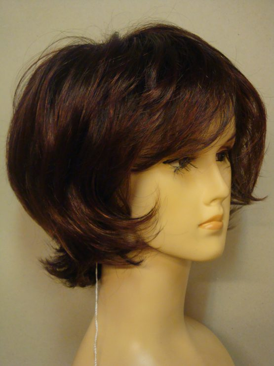 Krótka peruka brąz z rudawymi refleksami