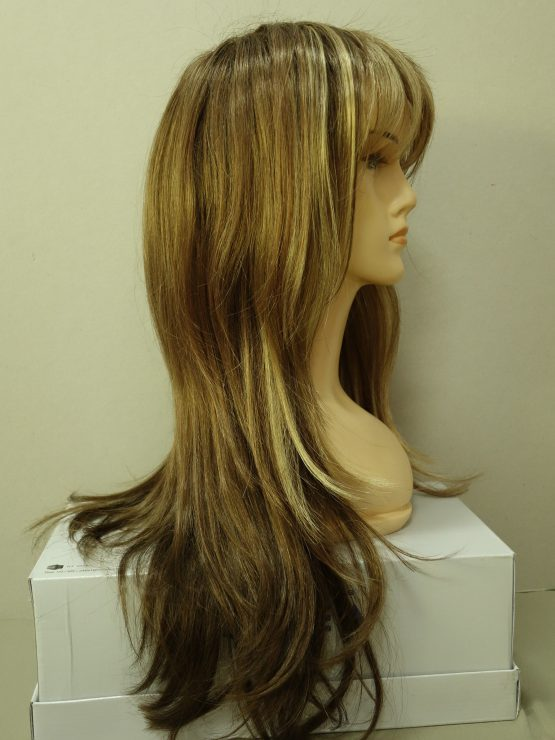 Długa peruka ciemny blond