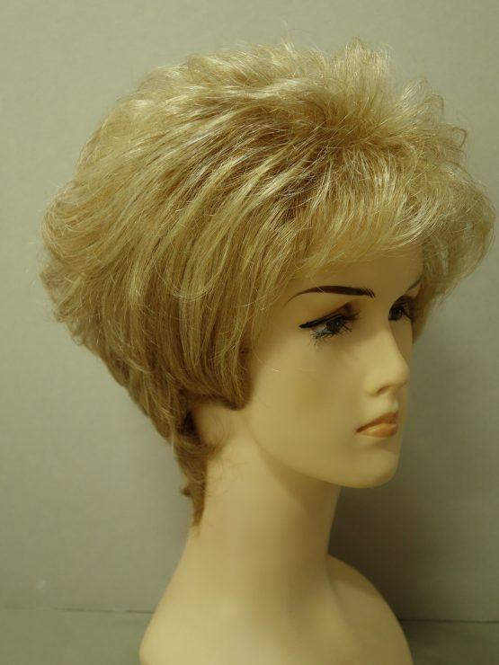 Krótka peruka kręcona słoneczny blond