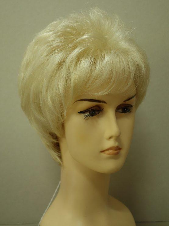 """Krótka peruka platynowy blond """"jeżyk"""""""
