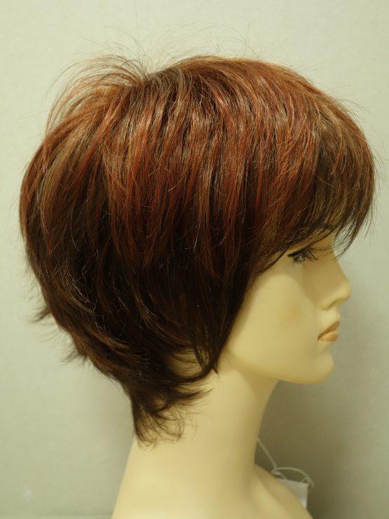 Krótka peruka ruda pocieniowana