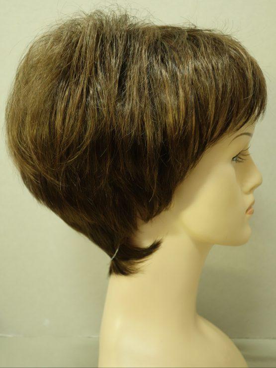 Krótka peruka brązowa