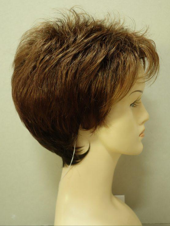 Krótka peruka orzechowy brąz