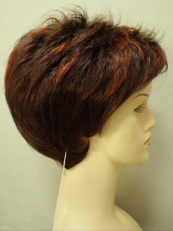 Krótka peruka rubinowa