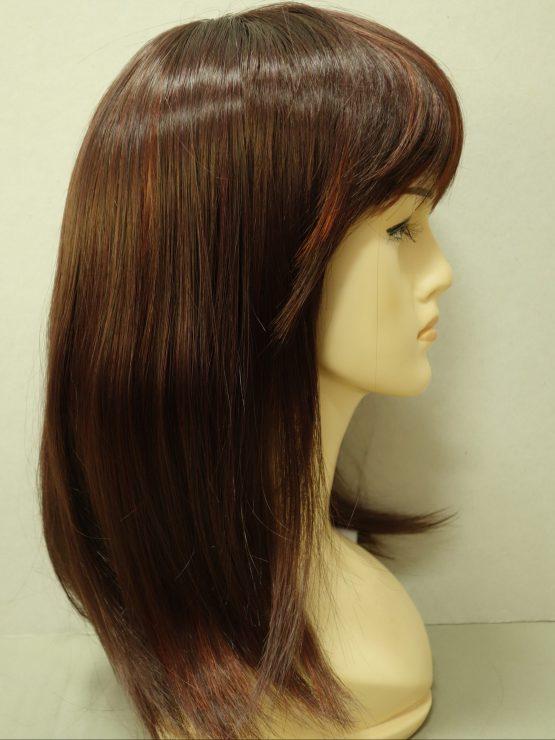 Półdługa peruka rubinowa