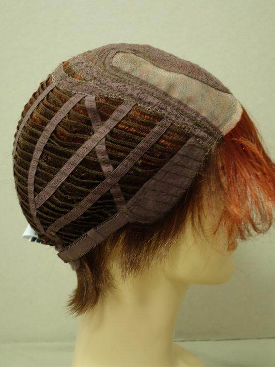 Krótka peruka ruda asymetryczna