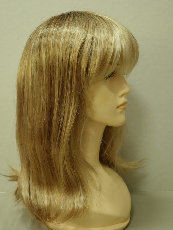 Półdługa peruka blond z refleksami