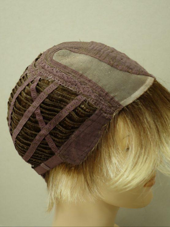 Krótka peruka różne odcienie blondu asymetryczna