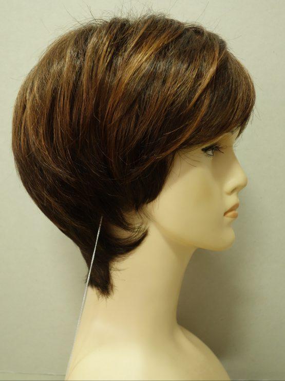 Krótka peruka w różnych odcieniach brązu