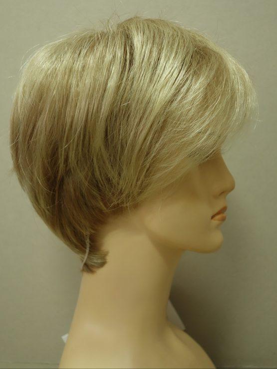 Krótka peruka jasny blond asymetryczna