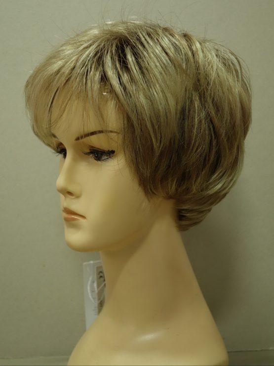 Krótka peruka blond z pasemkami