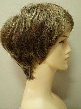 Krótka peruka szatyn z refleksami