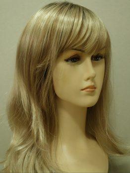 Długa peruka blond z refleksami