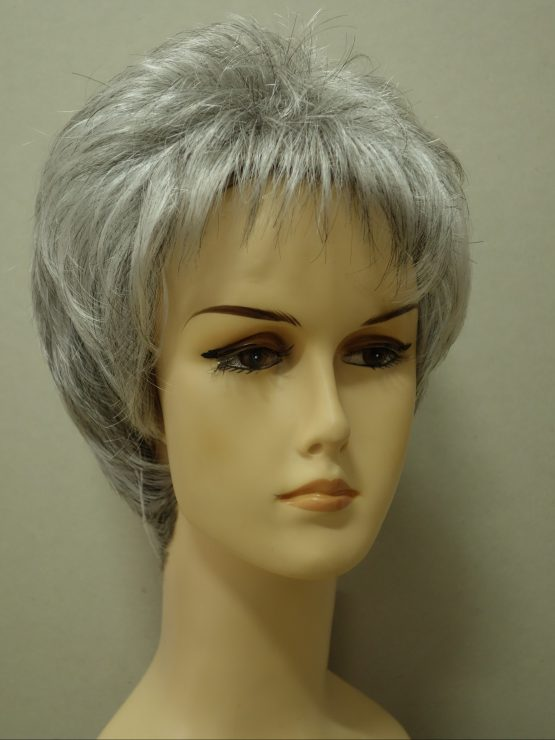 Krótka siwa peruka lekko pocieniowana