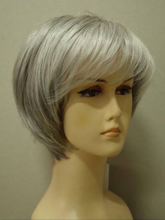 Krótka peruka siwa