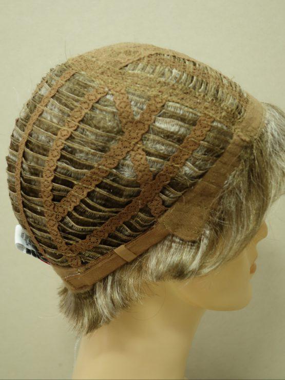 Krótka peruka siwa z pasemkami