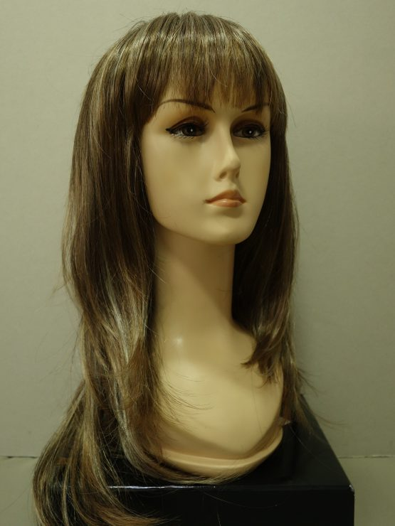 Długa peruka szatyn z refleksami