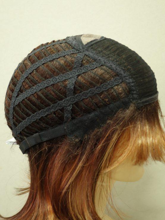 Półdługa peruka różne odcienie rudości