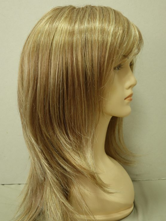Długa peruka blond z pasemkami