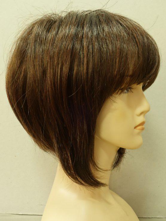 Krótka peruka ciemny brąz z refleksami