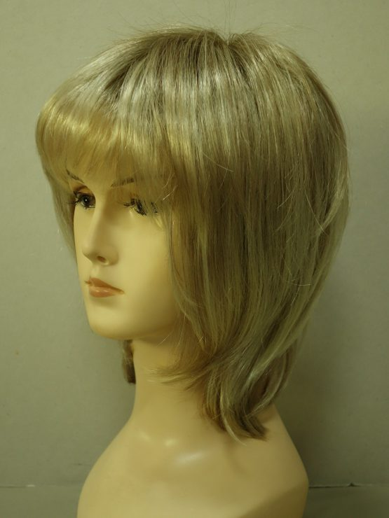 Krótka peruka jasny blond z refleksami