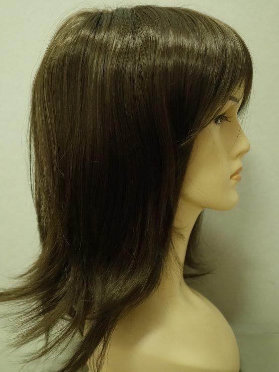Długa peruka brąz