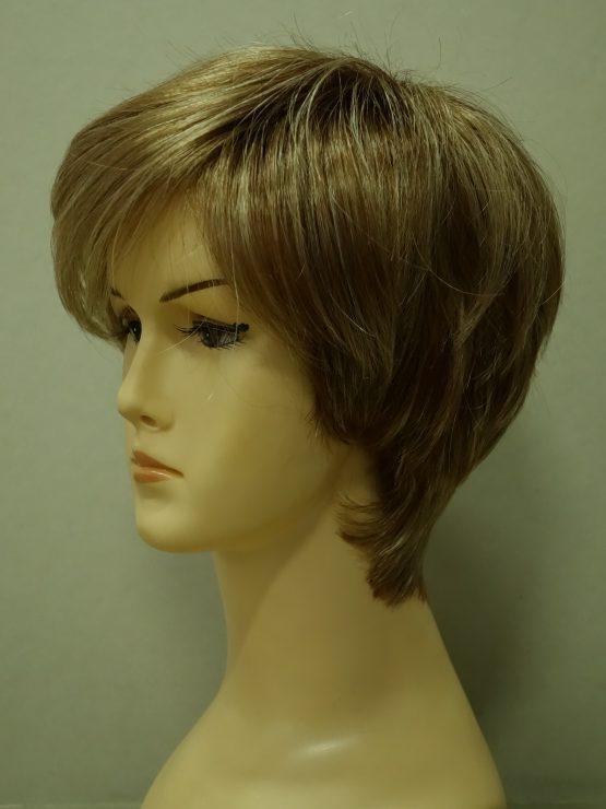 Krótka peruka blond asymetryczna
