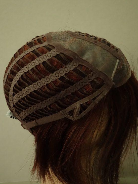 Krótka peruka brąz z rubinowymi refleksami