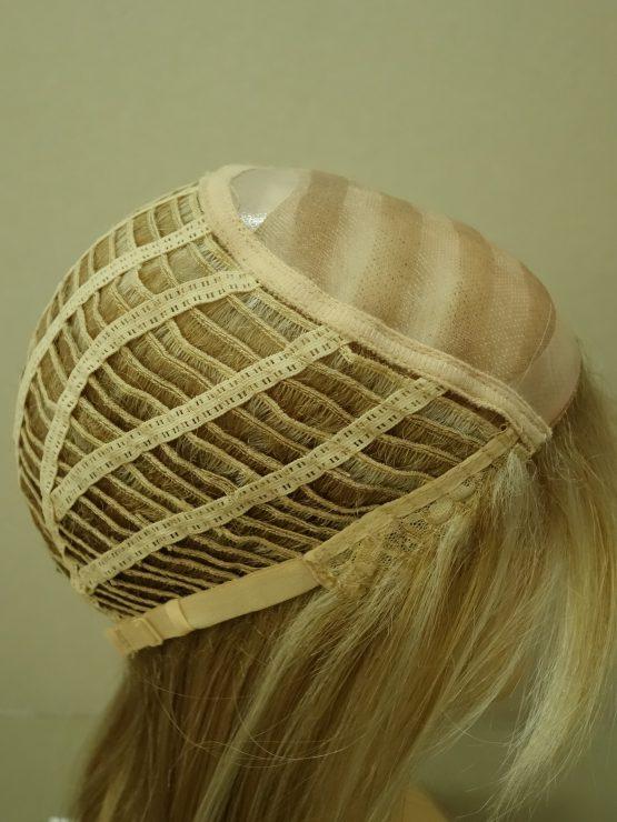 Długa peruka jasny blond z pasemkami