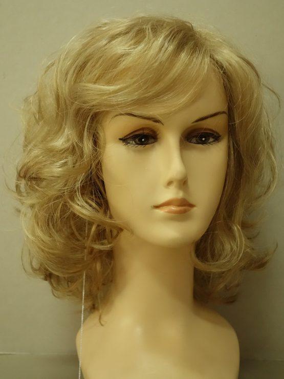 Krótka peruka blond kręcona