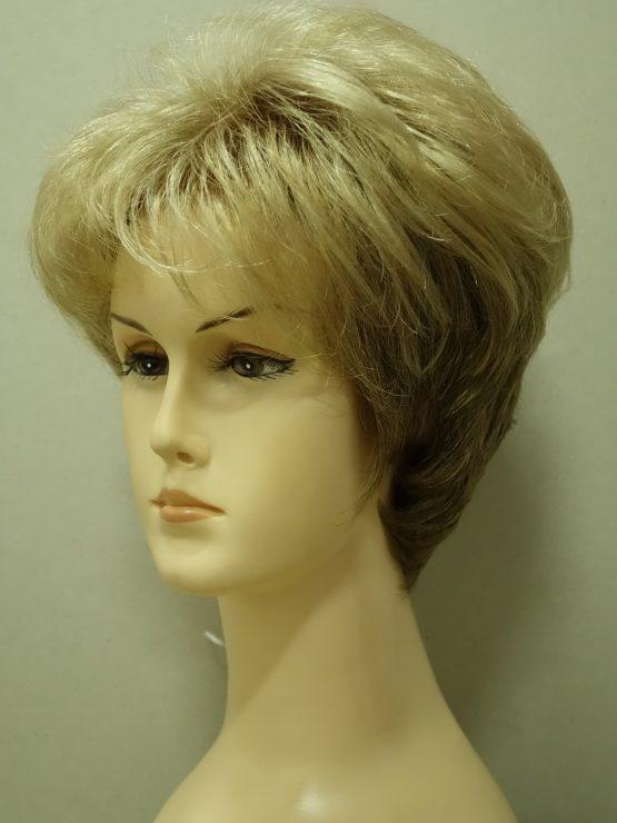 Krótka peruka złoty blond lekko kręcona
