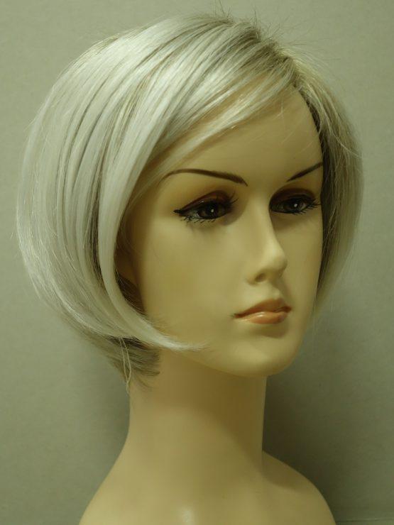 Krótka peruka biały blond