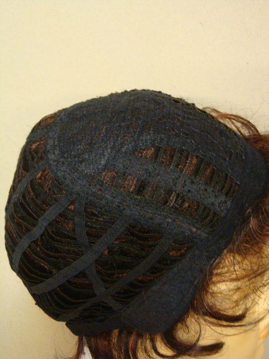 Krótka peruka brąz z pasemkami