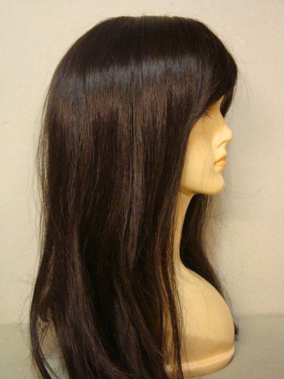 Długa peruka czekoladowa