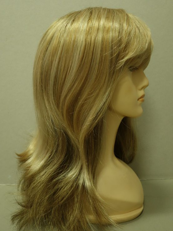 Długa peruka złoty blond