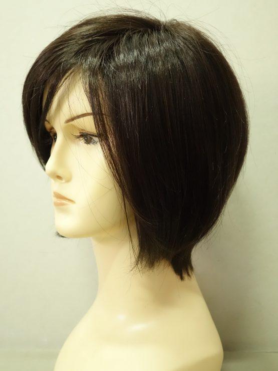 Krótka peruka w kolorze ciemnego brązu