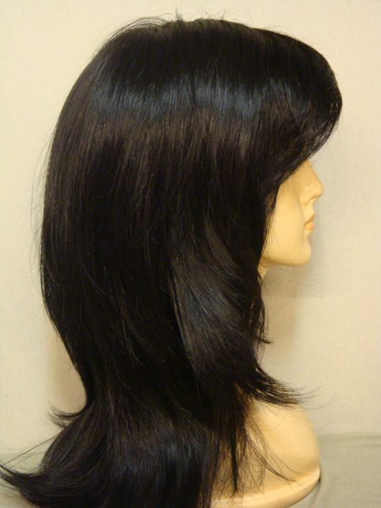 Długa peruka czarna pocieniowana